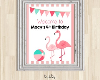 Flamingo Party Welcome Sign, Flamingo Party Sign, Flamingo Birthday Welcome Sign, Flamingo Decor, Flamingo Party Decor *NEW STORE discount*