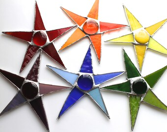 Roy G Biv aka Red Orange Yellow Green Blue/Indigo Violet- Rainbow stars