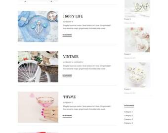 WordPress Theme // Template Responsive Blog // Divi Child Theme Blog Layout // ecommerce // Business theme // Feminine Custom Website Design