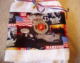 Flour Sack Dish Towel/U S Marines