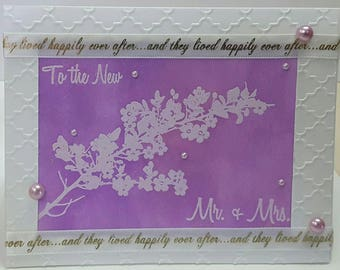 Wedding Card Mr and Mrs Forever and they lived happily ever after elegantMessage inside