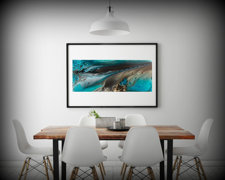 GICLEE PRINTS Art Abstract Painting Coastal Home Decor