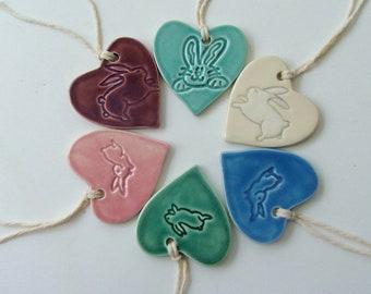 Ceramic Ornaments, Easter Bunny Ornament, Handmade Ornament