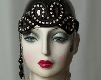Special * Great Gatsby-Flapper * headdresses/Headpiece, Glamour, headband, Downtown Abbey, headdress, vintage style.
