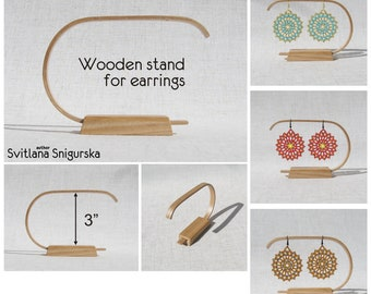 Wood earring holder Earring stand Earring display Earring storage Earring organizer Retail display Store display Booth display Retail stand