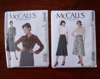McCalls Patterns - McCalls Sewing Patterns Vintage - McCalls 7053 6933 - Archive Collection - Vintage Patterns - 1933 - 1930s  - Top Skirt