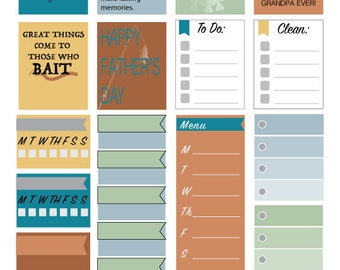 Fishy Father's Day Planner Stickers