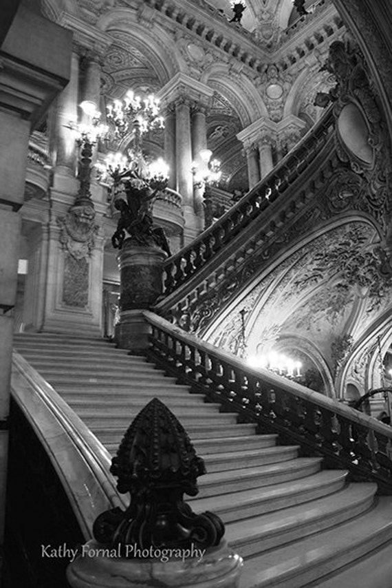 Paris photography opera house prints paris black white