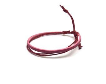 Pink women bracelet
