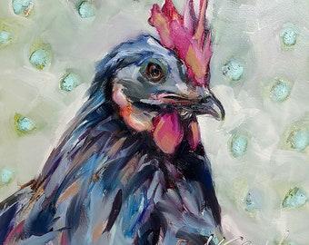 rooster | rooster painting | rooster art | kitchen art | chicken art | bird art | bird painting | home decor | farmhouse decor