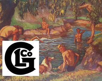 The Old Swimming Hole (GP8268)by J W Mitchell