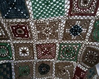 Granny square sampler blanket