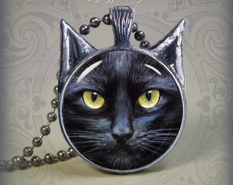 BLK1 Black Cat pendant