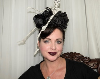 HANGING OUT with BLACKSTON Skeleton Day of the Dead Style Headdress