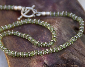 Exquisite Green Peridot Necklace