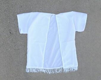 White child kimono, white kimono, swim suit cover up, beach cover up, baby kimono, adult kimono, fringe kimono,