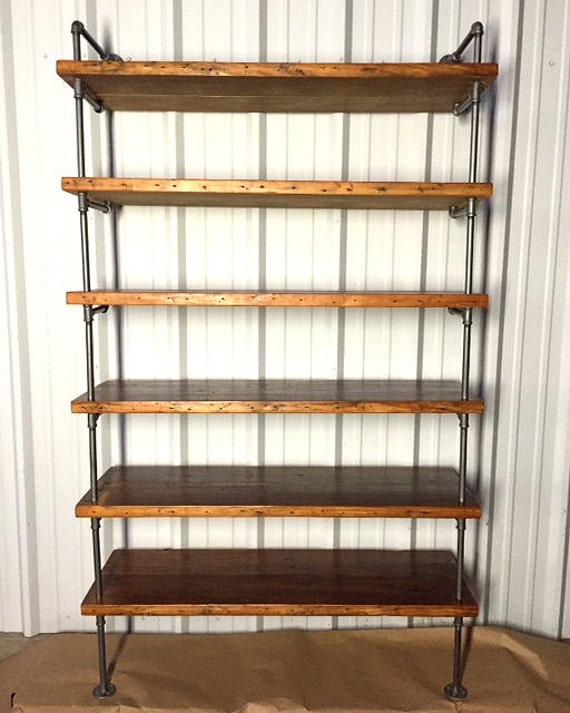 Reclaimed Wood Pipe Shelving Antique Rustic Reclaimed wood