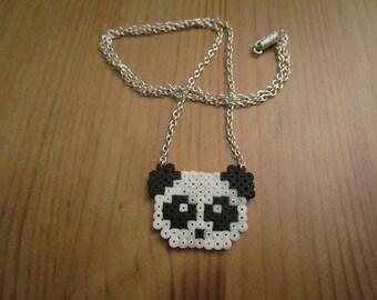 Pixel Art/beading - {pet} - Panda necklace