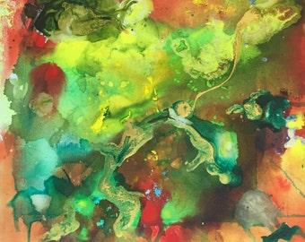 Abstract Green Original painting