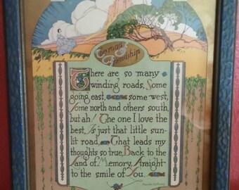 Sweet Vintage Friendship Print.