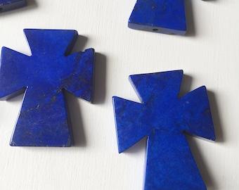 Royal Blue Magnesite Cross Pendants
