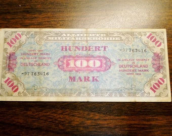 1944 Germany 100 Mark - Allied Military Currency - Nice Find!