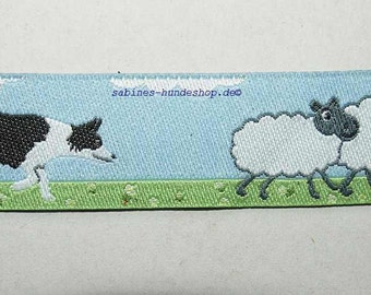 Jacquard Ribbon Border Collie 11/16""