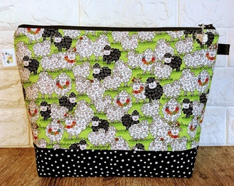 Sheep Knitting Project Bag - Medium / Shawl Size
