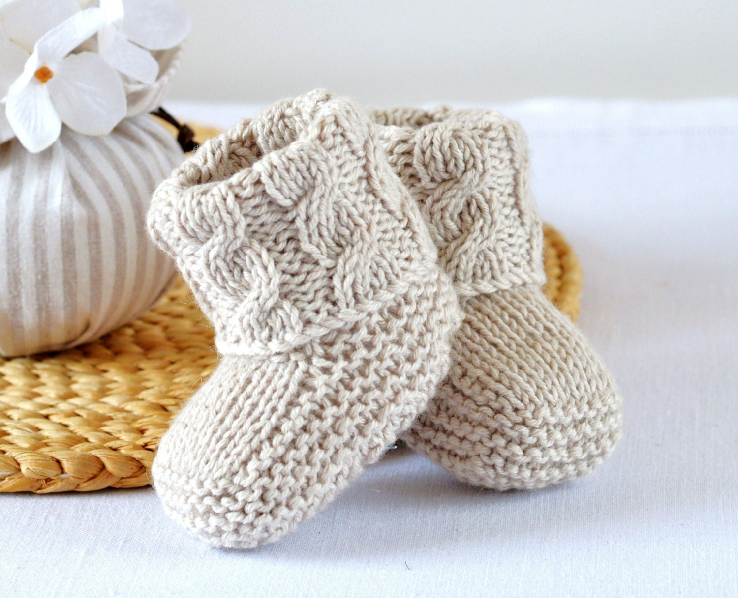Baby Booties KNITTING PATTERN Cable Aran Baby Shoes Quick and Easy ...