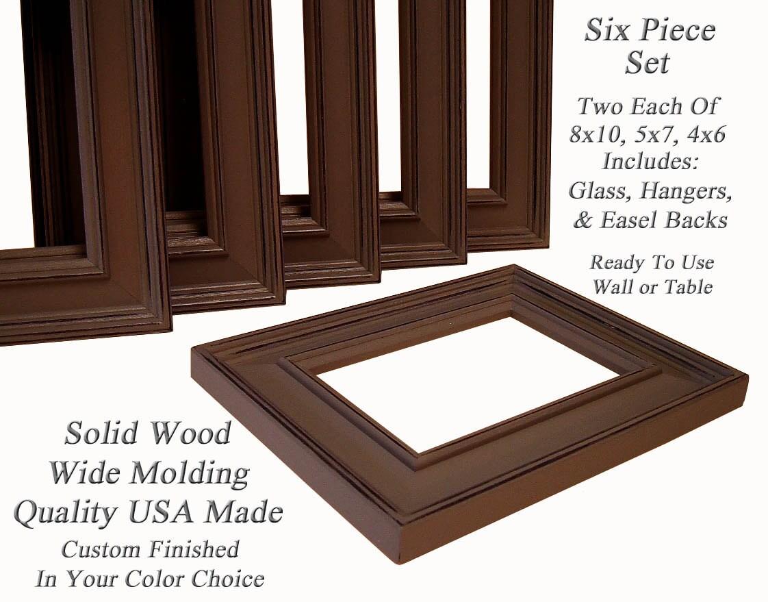 Foto marcos marco conjunto marrón o marcos personalizados pared ...