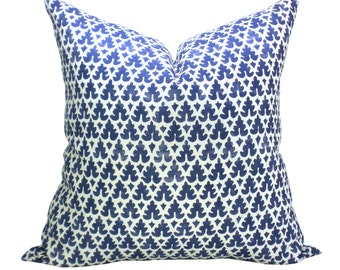 Volpi pillow cover in New Navy