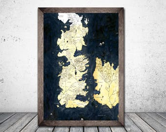 Game of Thrones, Mothers Day, Gift For Her, Gift For Him, Westeros Map, Game Of Thrones Gift, Game Of Thrones Map, Seven Kingdoms Map