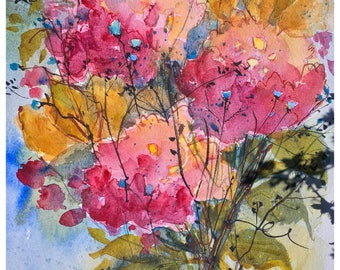Floral 1 - Original Watercolor