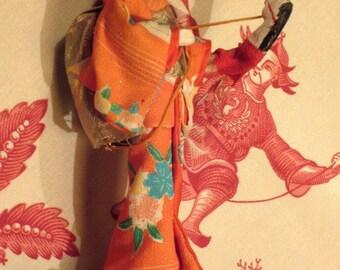 Vintage Hobby Horse Geisha Doll Circa 1950s