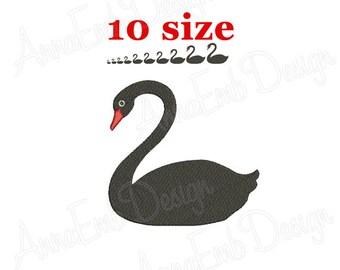 Swan Embroidery design. Swan Silhouette. Swan mini design. Animal Embroidery. Farm Embroidery. Machine Embroidery Design. Weding Embroidery