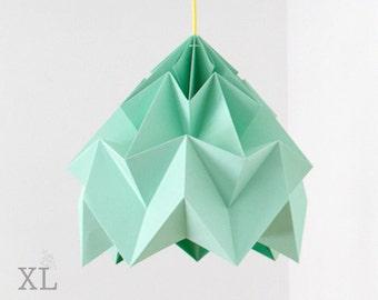 Lámpara de diseño origami menta polilla XL