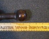 Handmade Curved Handcarved Cocobolo Exotic Wood Dildo - Cocoball