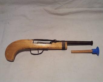 Vintage Wooden Children's Toy - Pistol