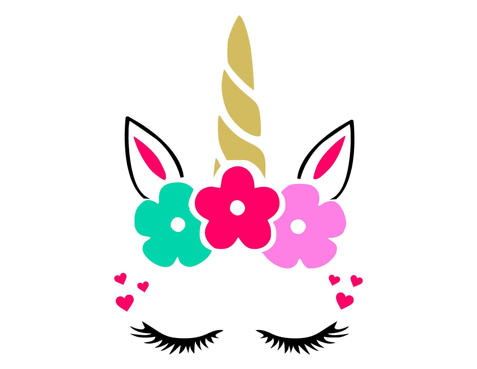 Unicorn Face Svg Unicorn Face Cut Files Svg Studio