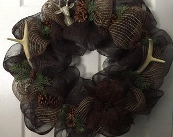 Glam Fall/Hunter/Winter Wreath