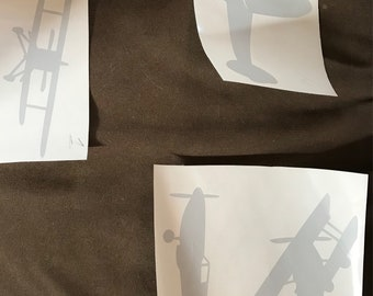 Air plane and cloud wall decals