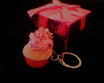 Lovely key gourmet cupcake realistic polymer clay