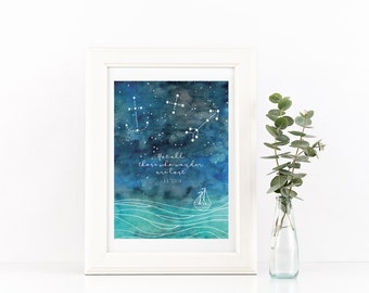 """Not all those who wander are lost Print, Wall Art, Encouragement, Wander, Explore, 5""""x7"""""""