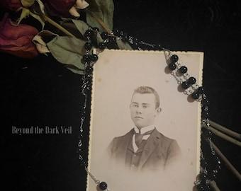 Antique Victorian Young Man Portrait Cabinet Card, Memento Mori, Cabinet Card, 1800's Photograph, CDV Card