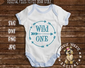 Wild One, Arrow, Circle, svg, dxf, png, jpg - kids, baby, cricut, cameo cut Cutable File