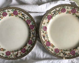 Two Beautiful Antique China Plates by Rowland & Marsellus