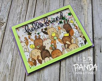Bunny Birthday Shaker Card