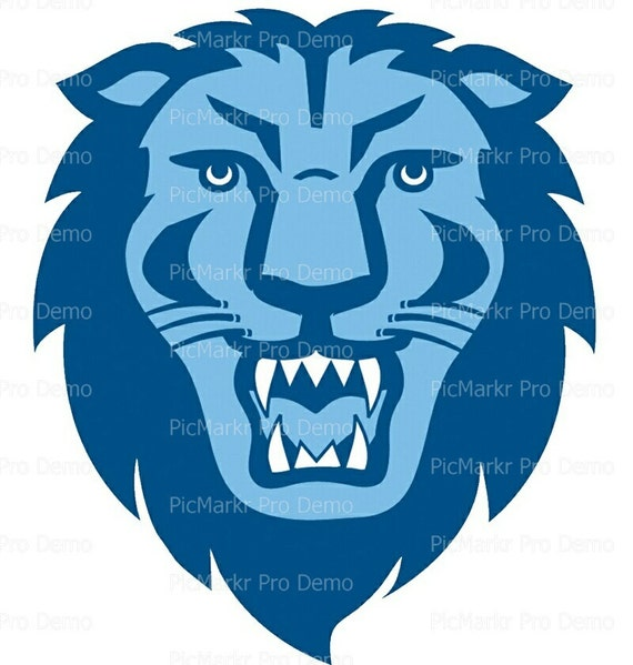 Blue Lion Mascot - Edible Cake and Cupcake Topper For Birthday's and Parties! - D20618