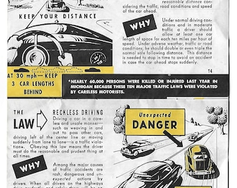 1950's Michigan Driver's Brochure - What Every Driver Must Know