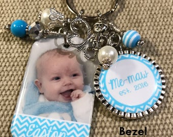 PERSONALIZED Gift, Mothers Day, Gift For Her, Photo Key Chain, Gift for Mom, Custom Key Ring, New Mom Gift, Birthday, Christmas Gift